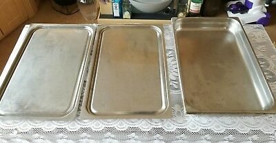 **used marks stains**catering bundle cooking serving trays dishes long large etc