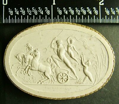 Rare Antique Grand Tour 1840 Plaster Intaglio Cameo 91 By Poniatowski / Tyrrell