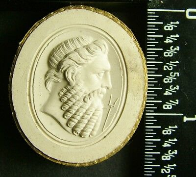 Rare Antique Grand Tour 1840 Plaster Intaglio Cameo 94 By Poniatowski / Tyrrell