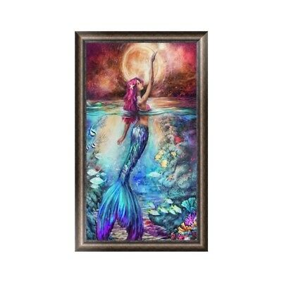 Diamond Embroidery Painting Mermaid Cross Stitch DIY 5D Craft Office Home Decor