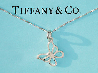 TIFFANY & Co ARGENT STERLING petit papillon collier