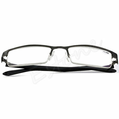 1.0 To 4.0 Lens Reading Glasses Coating Metal Half-frame Reading Glasses New