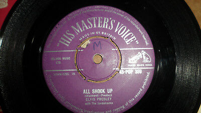 Elvis Presley 'all Shook Up' 45-Pop 359 His Master's Voice 1957 Uk Issue