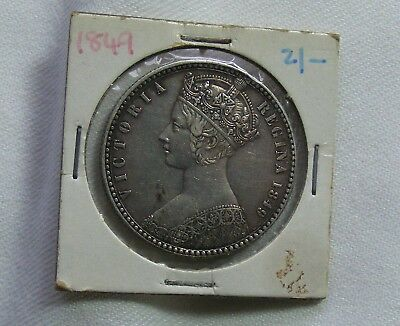 Queen Victoria Godless Florin 1849 EF condition