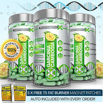 Garcinia Cambogia Extract Pills X3: Max Strength Slimming / Diet & Weight Loss