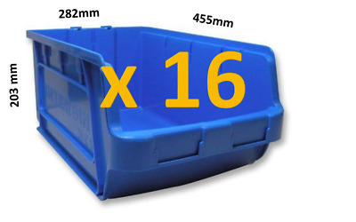 16 x Lin Bin XXL Stackable Storage Bins Container Plastic Parts Boxes Linbin VGC