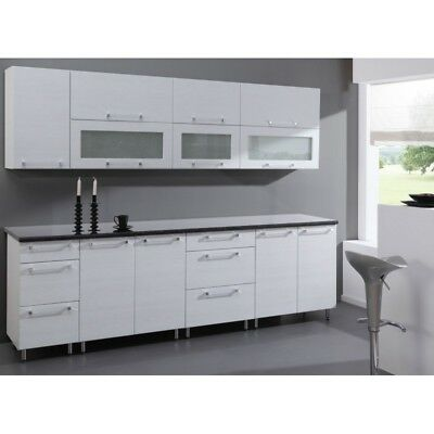 k che schr nke k chenzeile erweiterbar syberische birke patina neu schnell eur. Black Bedroom Furniture Sets. Home Design Ideas