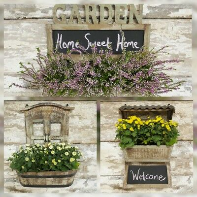 Garden Wooden Wall Planter Chalk Board Planter Garden Herb Planter Plant Bar Pub