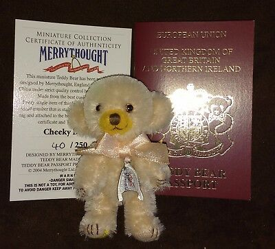 Merrythought Cheeky Blondie Mohair Teddy Bear - No 40 Of 250 - New In Box