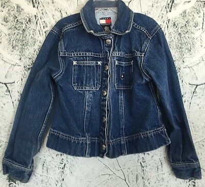 Tommy Hilfiger Denim Jacket Girls Vintage 90s Child's Star Buttoned 6X