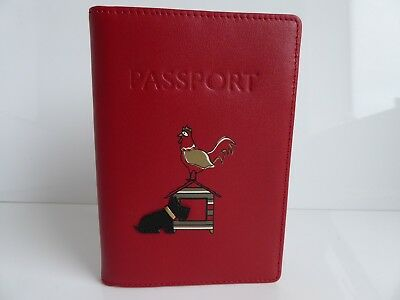 Radley Rule The Roost Leather Passport Cover BNWT RRP £42 With Dust Bag