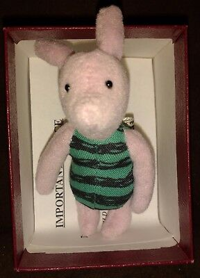 "Dean's Rag Book Mini 4"" Piglet Winnie The Pooh Official Disney  - New In Box"