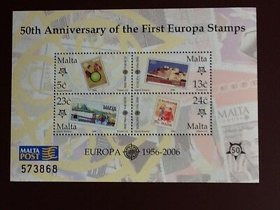 Malta 2006 S/S Europa Stamps-50th, Anniversary Unmounted Mint SC 1232