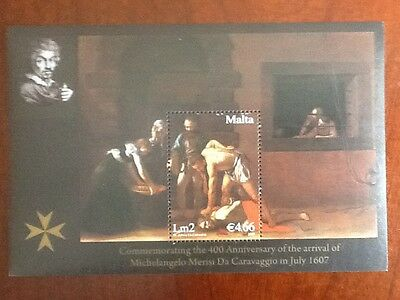 Malta 2007 M/S + Set  Caravaggio Unmounted Mint SC No 1295/1297  VF