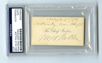 Melville Fuller 8th Chief Justice Nominated by Grover Cleveland PSA Authentic