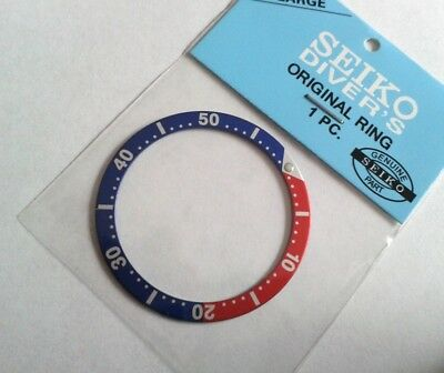 Replacement Divers Pepsi Bezel - Small Pip - for Seiko 6309, 7002,7S26,7548