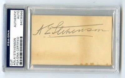 Adlai Stevenson 23rd Vice President Democratic Party PSA/DNA Authentic