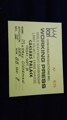 Holmes V Shavers Press Pass
