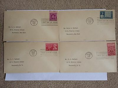 Stamps - USA - 4 x FDC First Day of Issue 1948