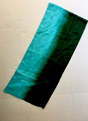 100% Silk 69x15 Scarf Oblong Rectangle Teal Green Craft Link Globe Fair Trade