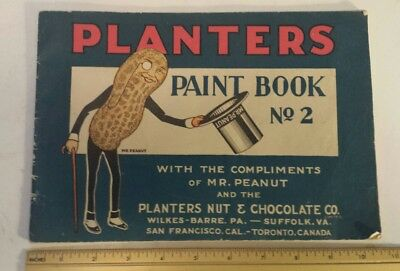 """Scarce (Canada) """"planters Paint Book.no. 2"""" Partially Used"""