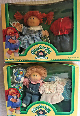 2 Cabbage Patch Kids Playmate New in Box!