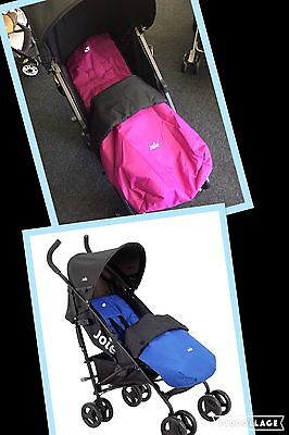 Joie Nitro Stroller Inc Footmuff And Rain Cover *reversible Cosy Pink Or Blue*