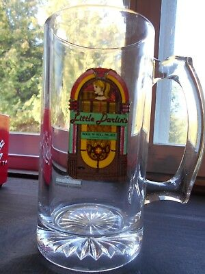 Little Darlin's Rock N Roll Palace Drinking Glass Mug '90s Old Town Florida