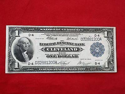 FR-719  1918 Series $1 One Dollar Cleveland Federal Reserve Bank Note  *XF-AU*