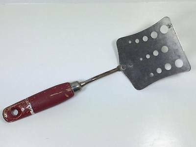 Vintage Sky-line red wood handled  spatulla made in England