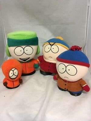 Bundle of original South Park Soft Plush Toys. Cartman, Kyle, Kenny & Stan