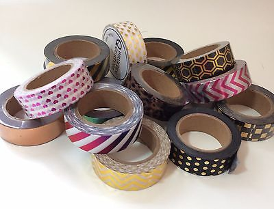 Foil/metallic washi tape - postage only payable on 1st roll