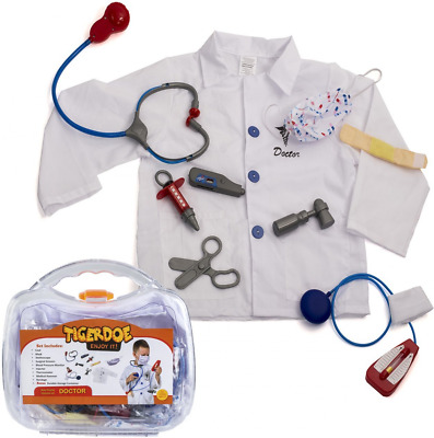 Kids Doctor Costume - Dress Up - Kids Doctor Play Set - Doctor Kit - Doctor Acce