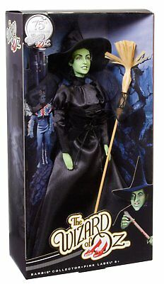 The Wizard of Oz WICKED Witch  Barbie  75th Anniversary PINK LABEL  MINT CAO