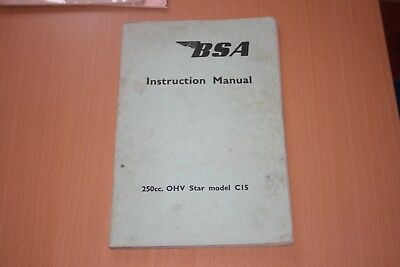 BSA C15 instruction manual