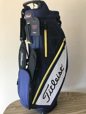 Titleist Players 4 Stand Bag Navy/White/yellow