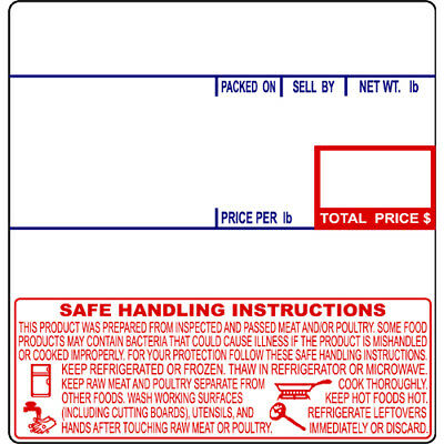 CAS LP-1000 #8040 UPC Safe Handling Thermal Labels