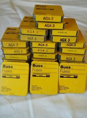 New Buss Fuses AGX 3 3 Sliders with 15 Fuses