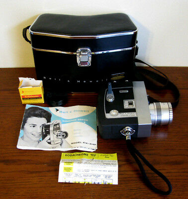 Vintage Bell Howell Director Series Zoomatic Movie Camera Great Condition Works