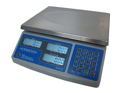 Scale Weighing Systems, PCS-60, 30/60 lb x 0.01/0.02 lb Price Computing Scale