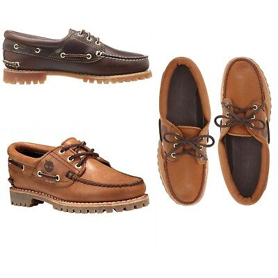 TIMBERLAND Women/'s NOREEN Navy Leather Shearling Boat Shoes size UK 5 6
