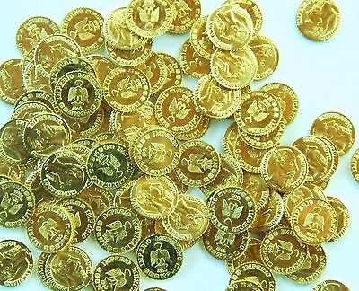 100 CT 1865 Maximilian Peso Gold tone favors 8-22K toy metal coins LOVE TOKENS