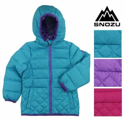 NEW Snozu Ultra Clean Down GIRLS Puffer Jacket - Variety of Sizes Pink or Purple