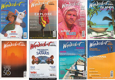 WANDERLUST Magazines - 15 issues, all good condition, fabulous travel articles