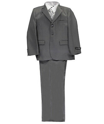 """Kids World Big Boys' Husky """"In Charge"""" 5-Piece Suit (Sizes 10H - 20H)"""