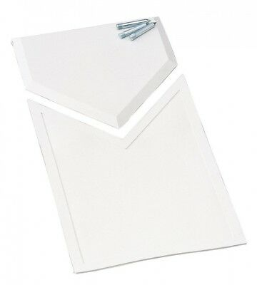 (OS, White) - Champion Sports HomePlate Extension. Shipping is Free