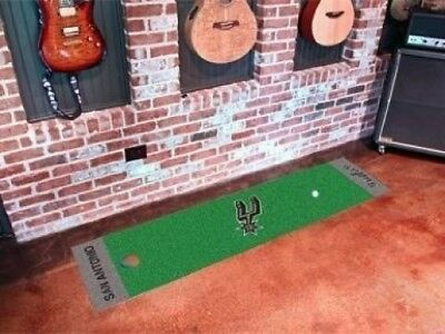 Fanmats 09407 Nba - San Antonio Spurs Putting Green Runner. Free Shipping
