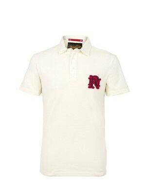 (Medium, Z74 Off White) - Front Up Rugby Men's Short Sleeve Polo T-Shirt