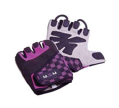(Large, Purple) - M.E.M Fitness Women's Xtreme Fit Gloves. Free Shipping