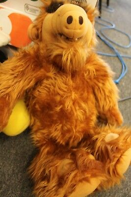 "Vtg 1986 COLECO Alien Productions TALKING ALF 18"" Stuffed Toy PLUSH Doll works"